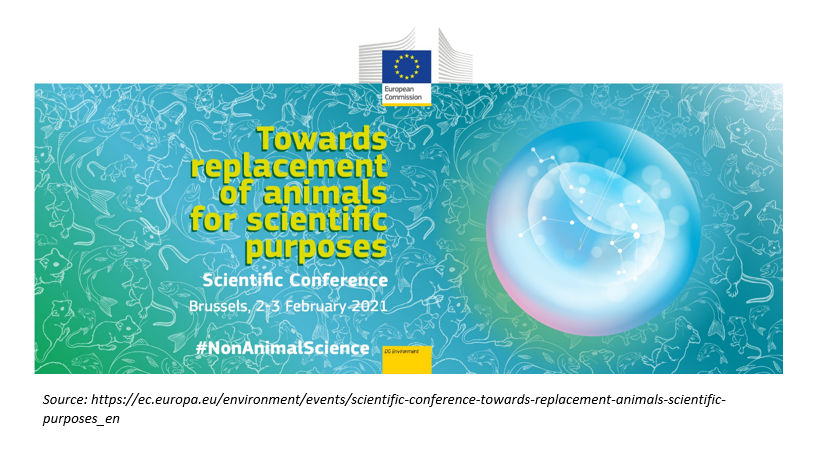 "Event poster ""Towards replacement of animals for scientific purposes"""